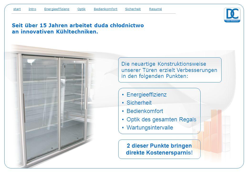 Seit über 15 Jahren arbeitet duda chłodnictwo an innovativen Kühltechniken. Energieeffizienz Sicherheit Bedienkomfort Optik des gesamten Regals Wartun