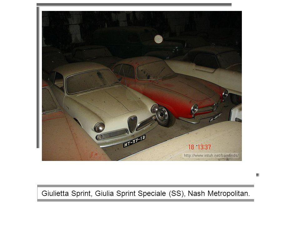 Alfa Giulietta, Lotus Europa, another Lotus Elan FHC, Matra Djet ?