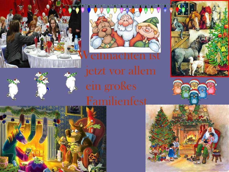 Weihnachten ist jetzt vor allem ein großes Familienfest