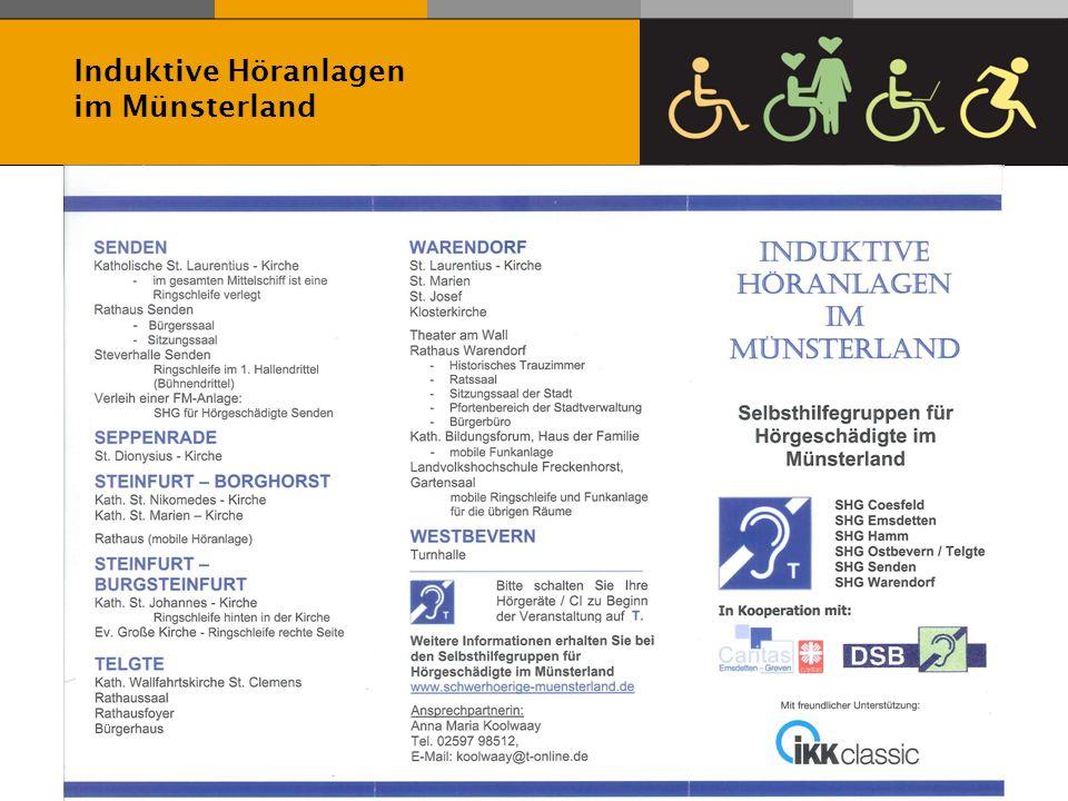 Referat Behindertenseelsorge Martin Merkens Hildegard Weiß Induktive Höranlagen im Münsterland