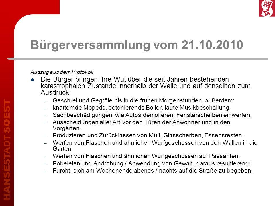 Kreispolizeibehörde Soest bürgerorientiert professionell rechtsstaatlich 13 Brennpunkte im Stadtgebiet Soest Innenstadt (ausgewählte Straßenzüge) Bahnhofsbereich Megaparc