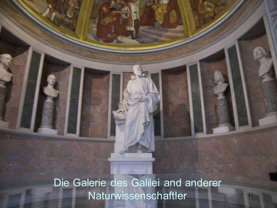 30 Die Schiefe Ebene. Galileis Versuchs- anordnung Galilei – Museum in Florenz