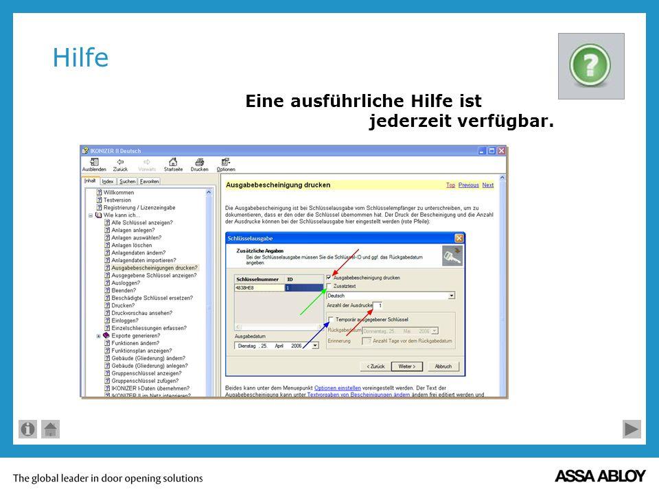 Neue Person Alle Schlüsselinhaber können entweder direkt eingegeben oder per Excel-Datei importiert werden.