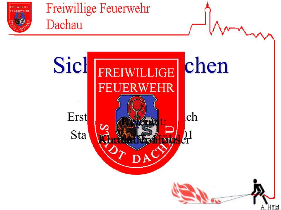 Sicherheitswachen Erstellt: Berthold Hubrich Stand: 15. Oktober 2001 Referent: Konrad Tonhauser Layout: Alexander Hölzl