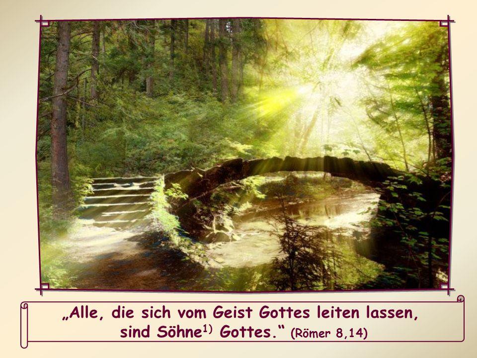 Alle, die sich vom Geist Gottes leiten lassen, sind Söhne 1) Gottes. (Römer 8,14)