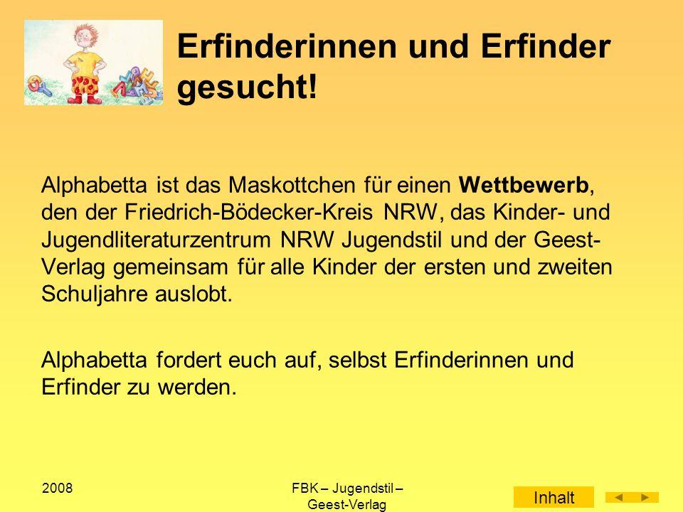 2008FBK – Jugendstil – Geest-Verlag Was könnt ihr erfinden.