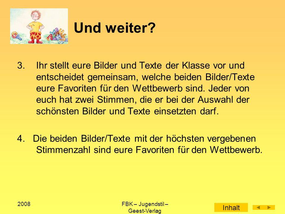 2008FBK – Jugendstil – Geest-Verlag Und weiter.