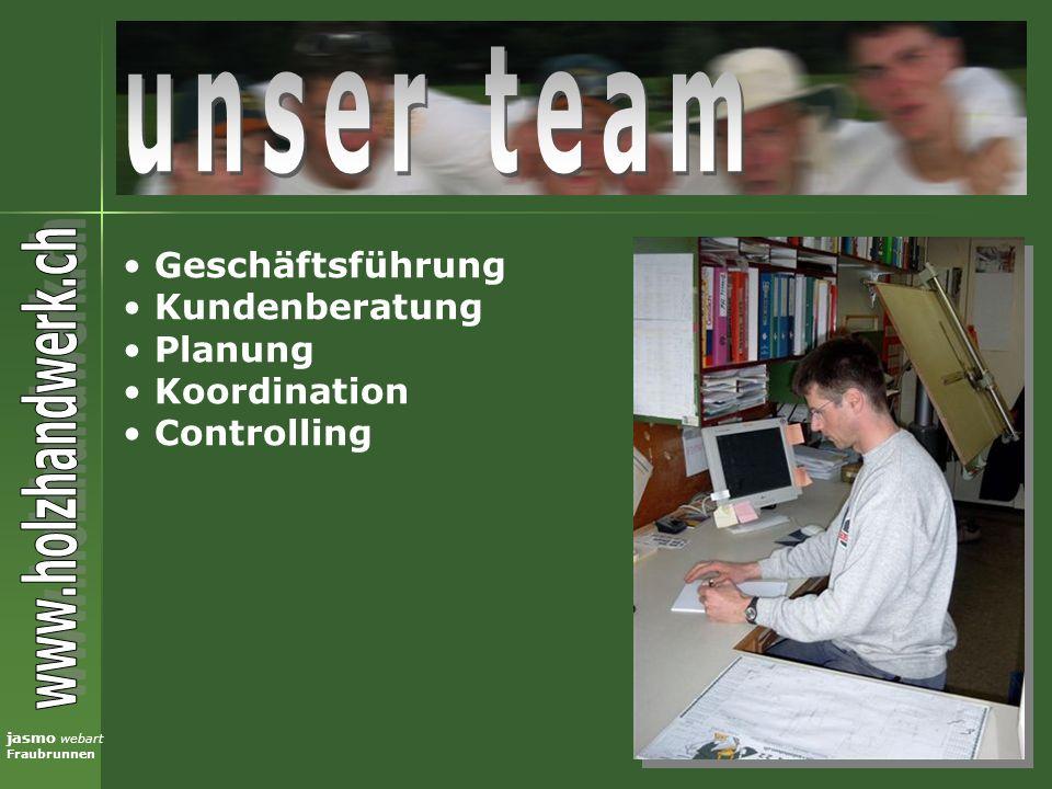 jasmo webart Fraubrunnen Geschäftsführung Kundenberatung Planung Koordination Controlling
