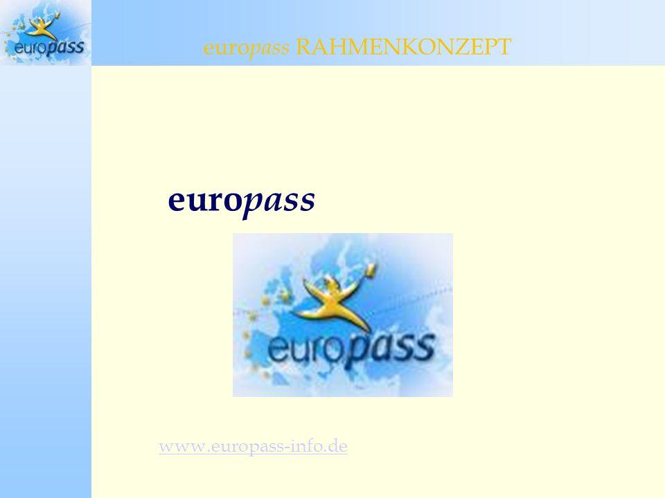euro pass www.europass-info.de euro pass RAHMENKONZEPT