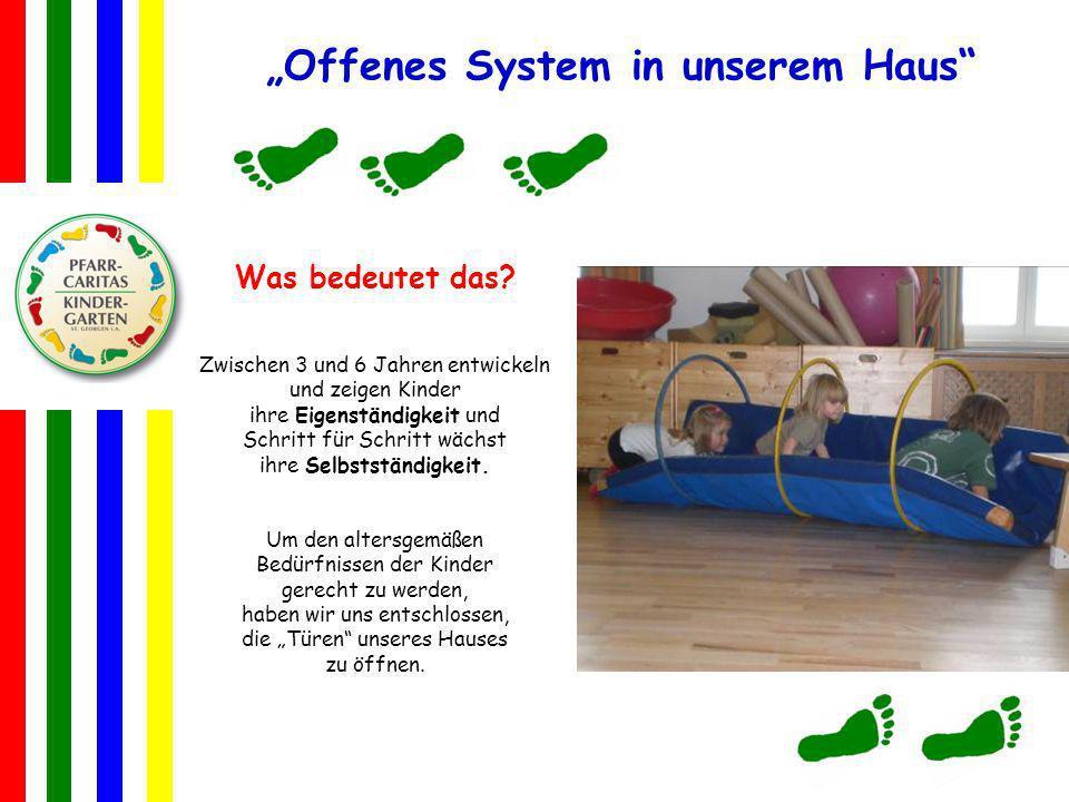 Offenes System in unserem Haus Was bedeutet das? Zwischen 3 und 6 Jahren entwickeln und zeigen Kinder ihre Eigenständigkeit und Schritt für Schritt wä