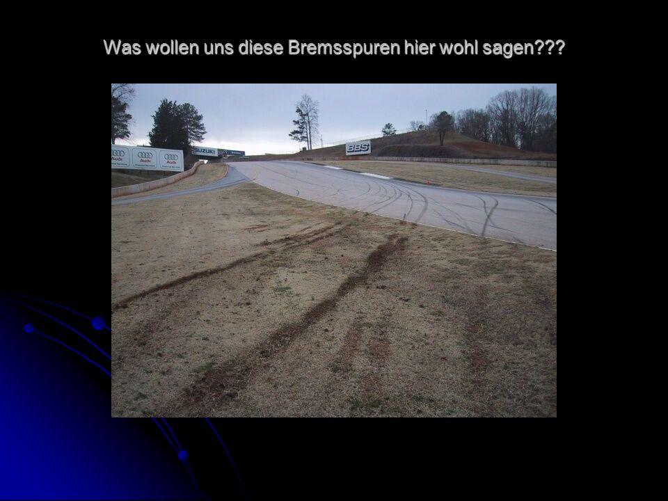 Was wollen uns diese Bremsspuren hier wohl sagen???