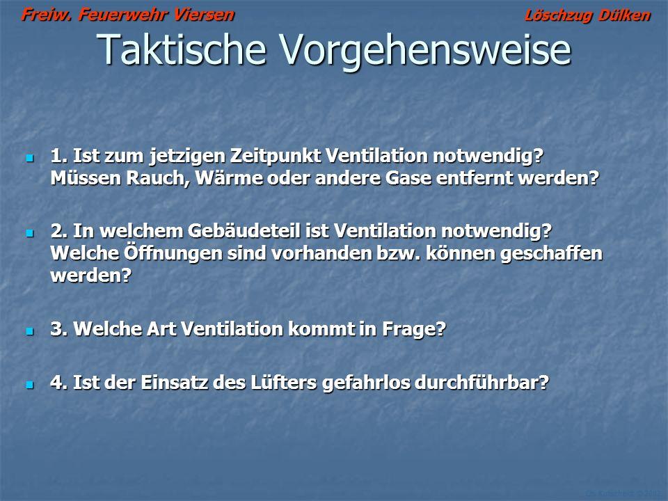 Freiw. Feuerwehr Viersen Löschzug Dülken Ch. Kutscheidt © 2002 Wenn sich keine Abluftöffnung schaffen läßt