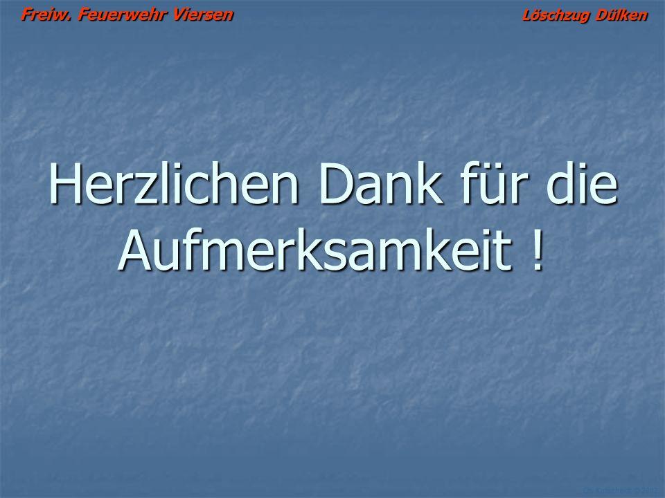 Freiw. Feuerwehr Viersen Löschzug Dülken Ch. Kutscheidt © 2002 Zusammenfassung Richtige Ventilation erhöht die Sicherheit der eingesetzten Trupps und