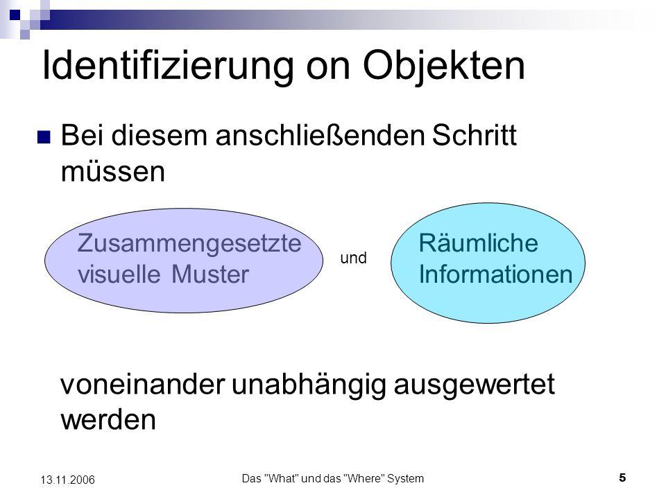 Das What und das Where System6 13.11.2006 Hierarchie Modelle z.B.