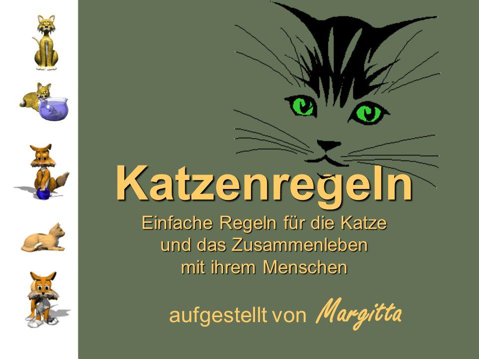 Katzenregeln Einfache Regeln für die Katze und das Zusammenleben mit ihrem Menschen aufgestellt von Margitta