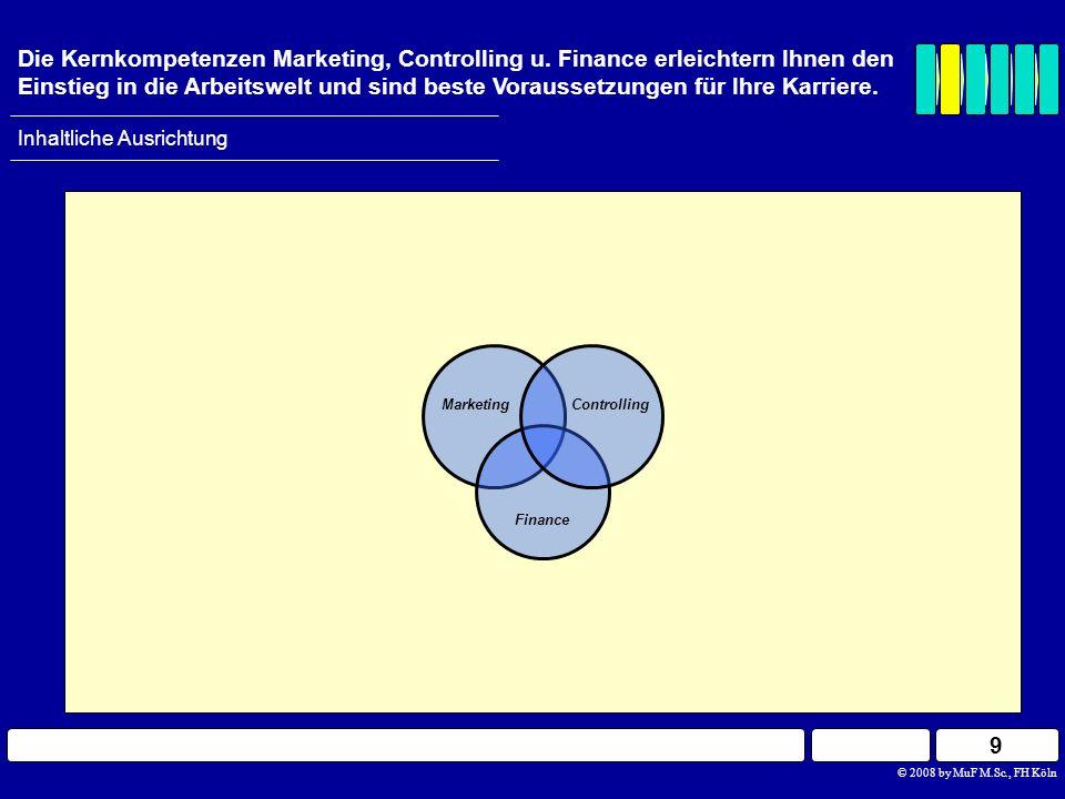 Marketing Finance Controlling Inhaltliche Ausrichtung Die Kernkompetenzen Marketing, Controlling u. Finance erleichtern Ihnen den Einstieg in die Arbe
