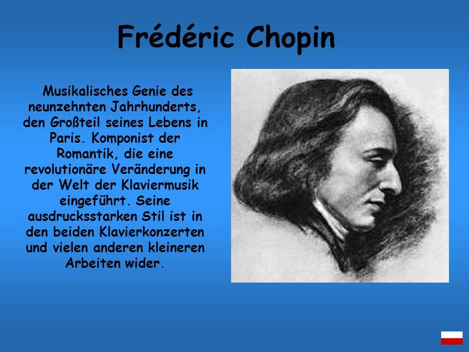 Musikalisches Genie des neunzehnten Jahrhunderts, den Großteil seines Lebens in Paris. Komponist der Romantik, die eine revolutionäre Veränderung in d