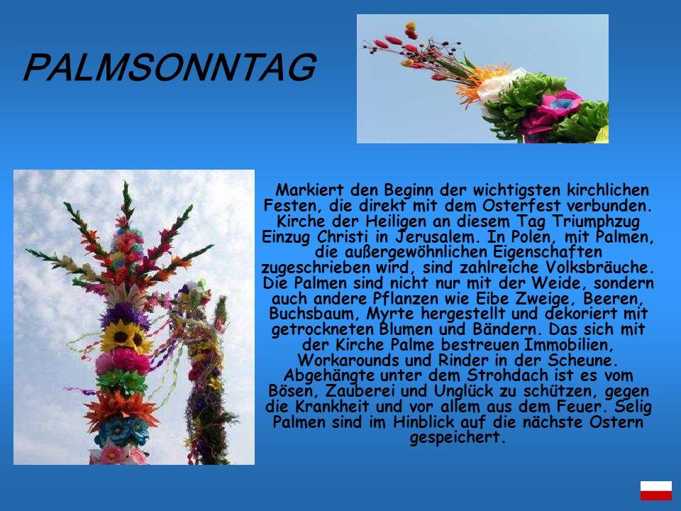 Markiert den Beginn der wichtigsten kirchlichen Festen, die direkt mit dem Osterfest verbunden. Kirche der Heiligen an diesem Tag Triumphzug Einzug Ch