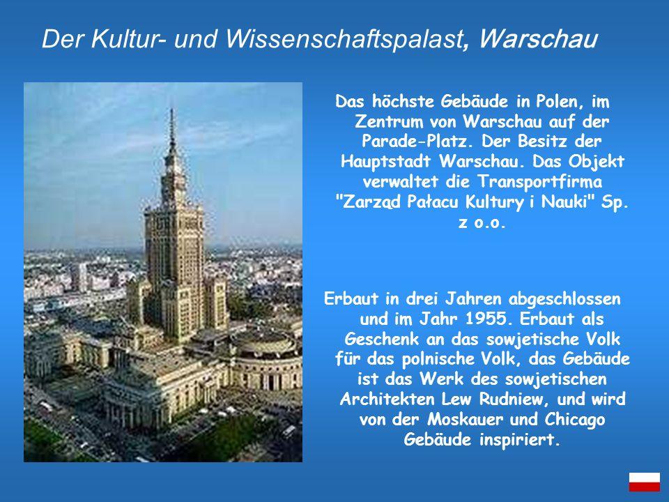Das höchste Gebäude in Polen, im Zentrum von Warschau auf der Parade-Platz. Der Besitz der Hauptstadt Warschau. Das Objekt verwaltet die Transportfirm