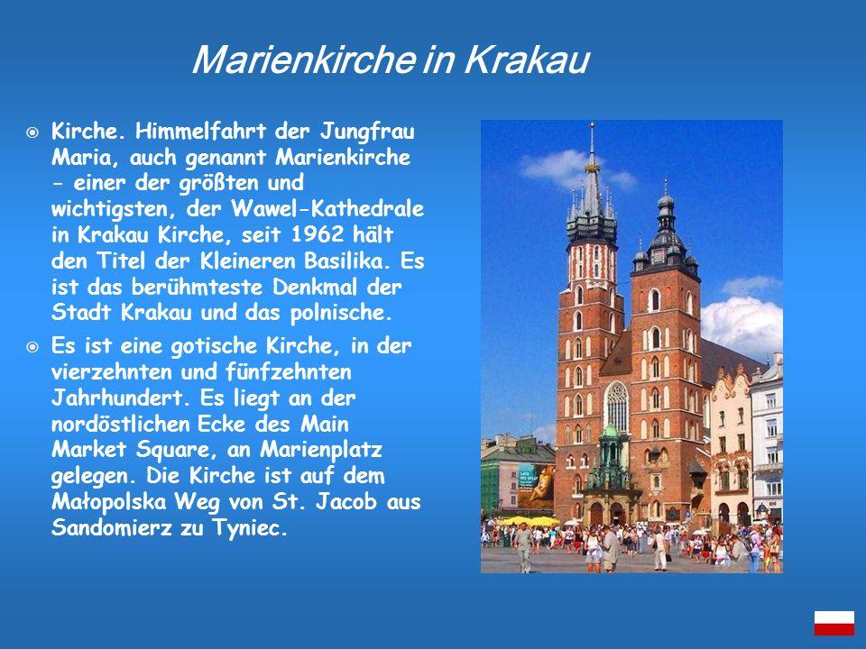 Kirche. Himmelfahrt der Jungfrau Maria, auch genannt Marienkirche - einer der größten und wichtigsten, der Wawel-Kathedrale in Krakau Kirche, seit 196