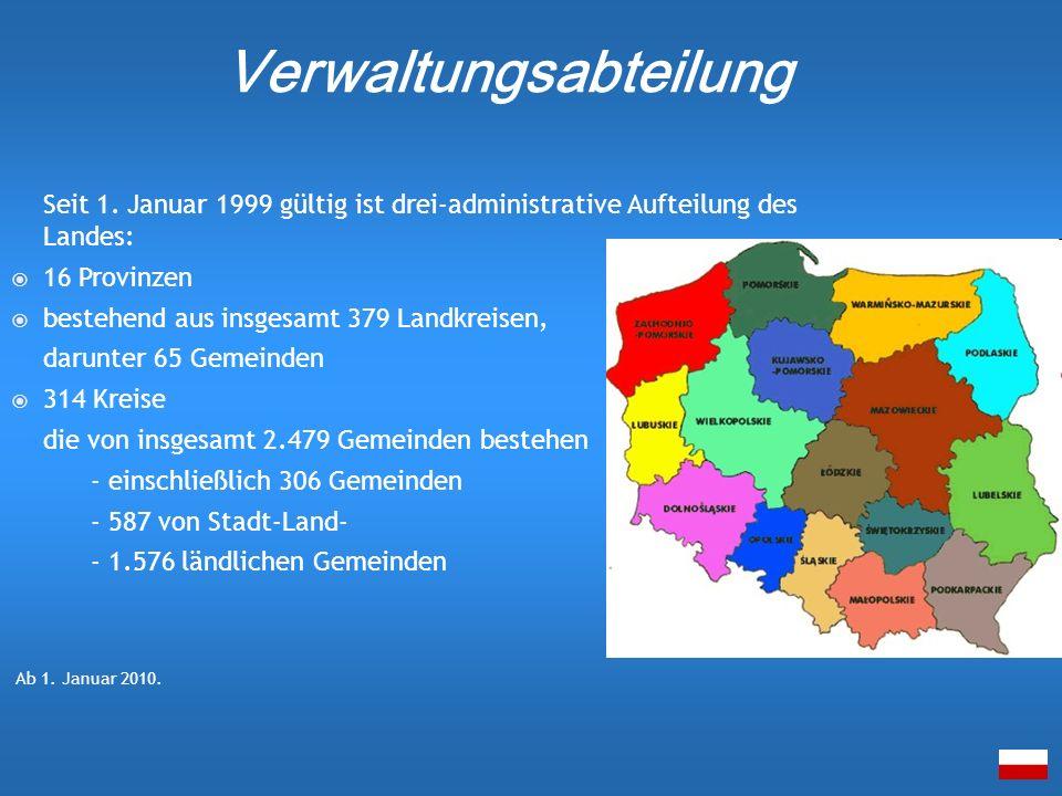 Seit 1. Januar 1999 gültig ist drei-administrative Aufteilung des Landes: 16 Provinzen bestehend aus insgesamt 379 Landkreisen, darunter 65 Gemeinden