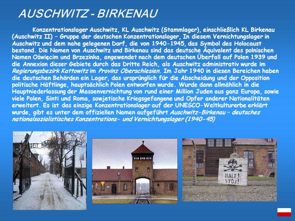 Konzentrationslager Auschwitz, KL Auschwitz (Stammlager), einschließlich KL Birkenau (Auschwitz II) – Gruppe der deutschen Konzentrationslager, In die