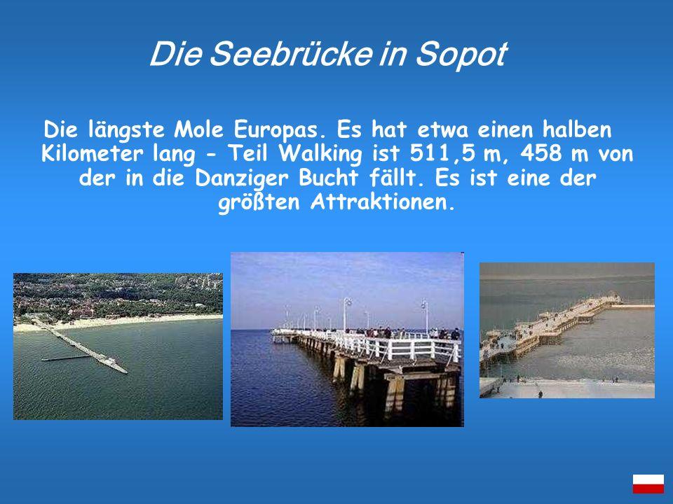 Die längste Mole Europas. Es hat etwa einen halben Kilometer lang - Teil Walking ist 511,5 m, 458 m von der in die Danziger Bucht fällt. Es ist eine d