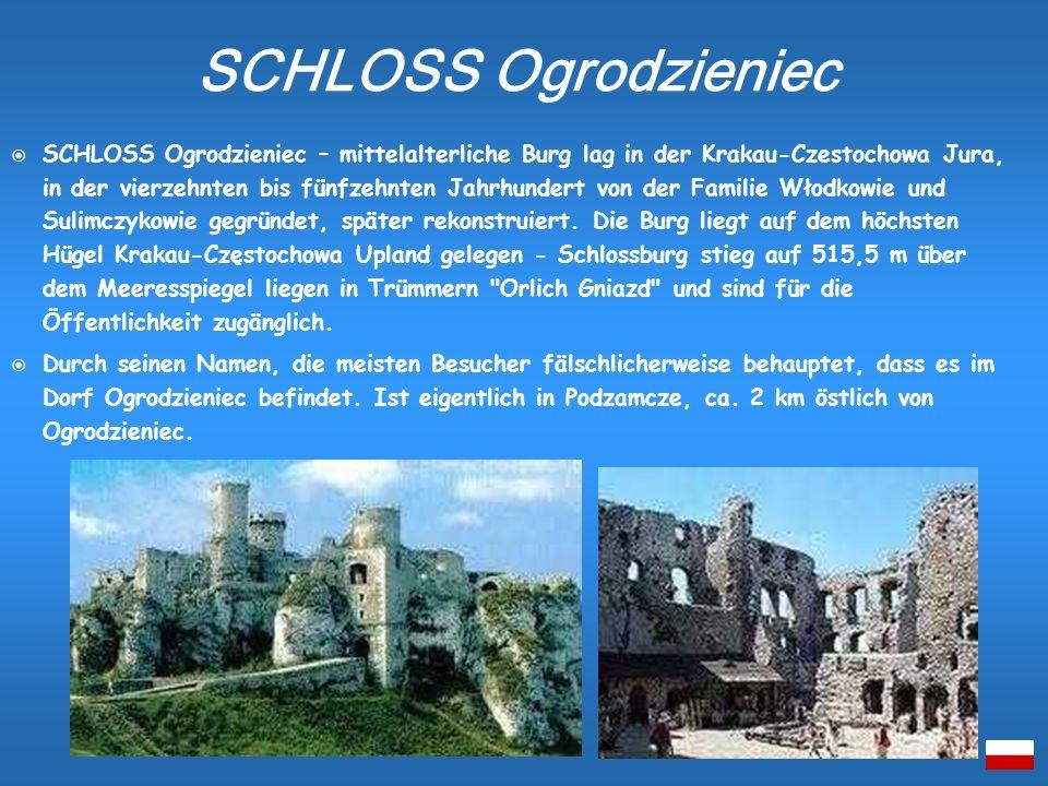 SCHLOSS Ogrodzieniec – mittelalterliche Burg lag in der Krakau-Czestochowa Jura, in der vierzehnten bis fünfzehnten Jahrhundert von der Familie Włodko