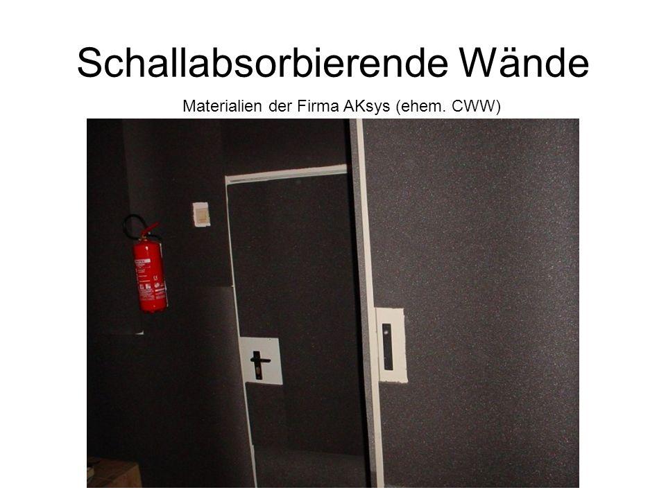 Schallabsorbierende Wände Materialien der Firma AKsys (ehem. CWW)