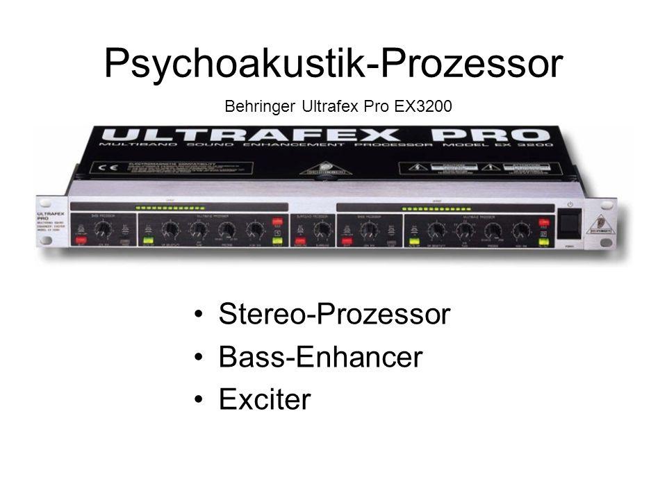 Psychoakustik-Prozessor Behringer Ultrafex Pro EX3200 Stereo-Prozessor Bass-Enhancer Exciter
