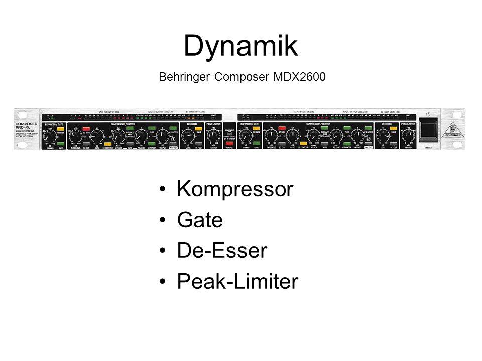 Dynamik Behringer Composer MDX2600 Kompressor Gate De-Esser Peak-Limiter