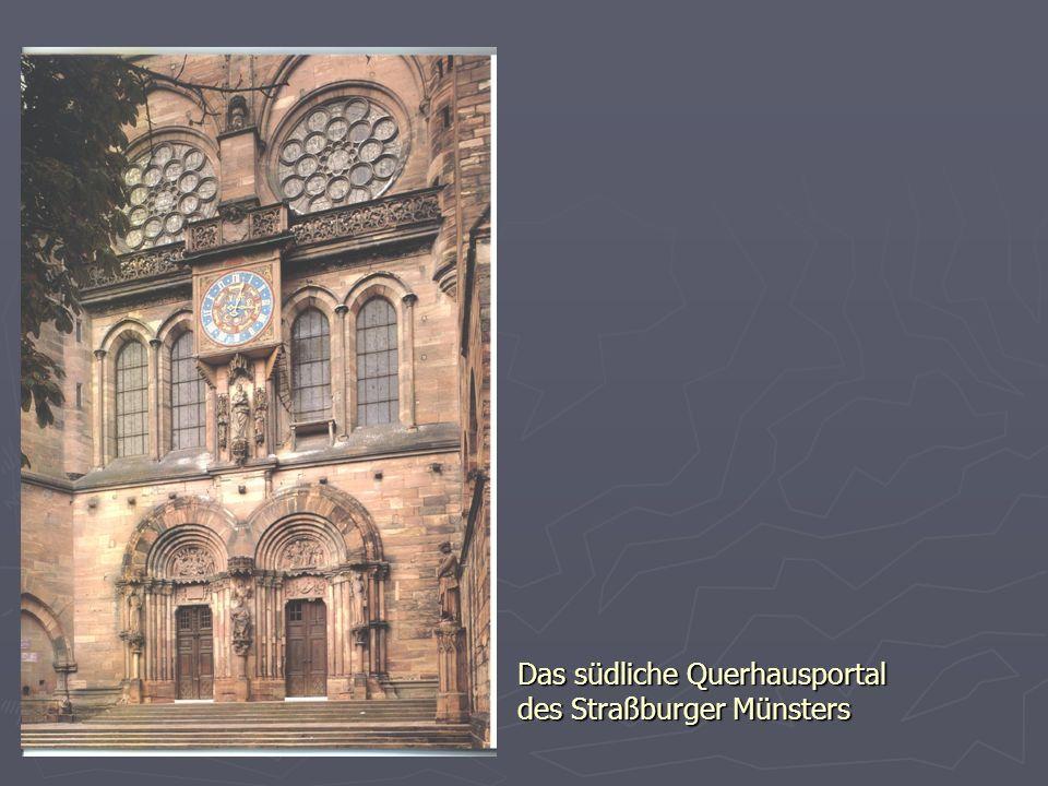 Das südliche Querhausportal des Straßburger Münsters