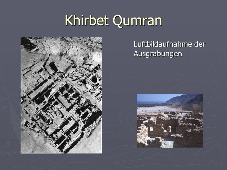 Khirbet Qumran Luftbildaufnahme der Ausgrabungen