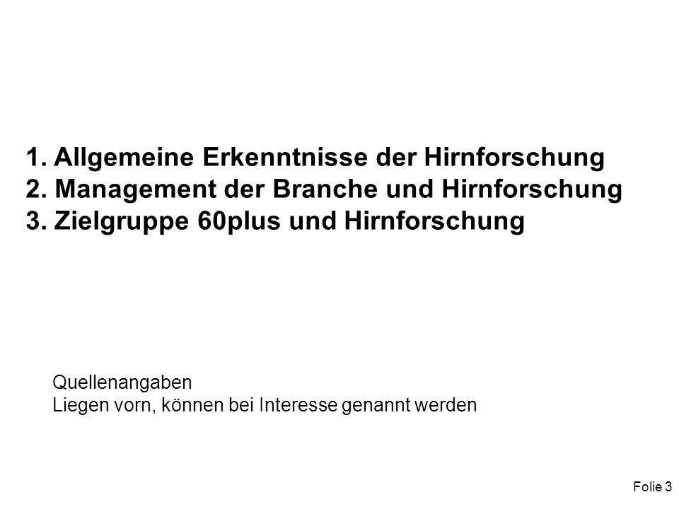 Folie 3 1. Allgemeine Erkenntnisse der Hirnforschung 2.