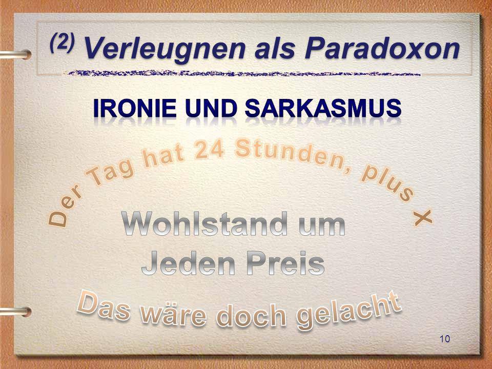 (2) Verleugnen als Paradoxon 10