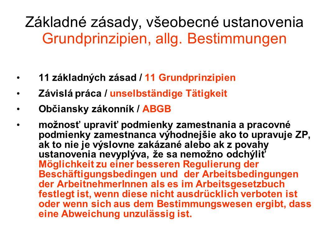 Skúšobná doba / Probezeit Nemusí byť dohodnutá / Ohne Vereinbarung Najviac tri mesiace / Max.