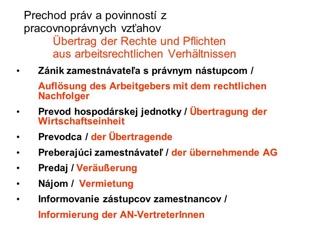 Spolurozhodovanie / Mitbestimmung BOZP /Sicherheit und Gesundheitsschutz am Arbeitsplatz/ Pracovný čas, nadčas /Arbeitszeit, Űberstunden/ Prestávky na odpočinok a jedenie /Pause für Ruhe und Essen/ Plán dovoleniek /Urlaubsplan/ Normy spotreby práce /Normen des Arbeitsaufwandes/ Vážne prevádzkové dôvody /ernsthafte Betriebsgründe/ Neospravedlnená neprítomnosť v práci /nicht entschuldigte Absenz in der Arbeit/