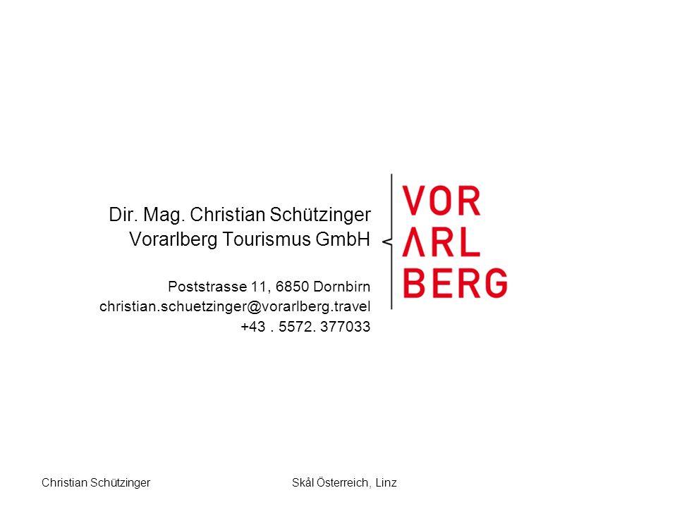 Skål Österreich, LinzChristian Schützinger Dir. Mag.