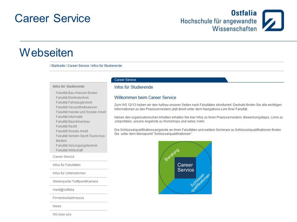 Career Service Webseiten
