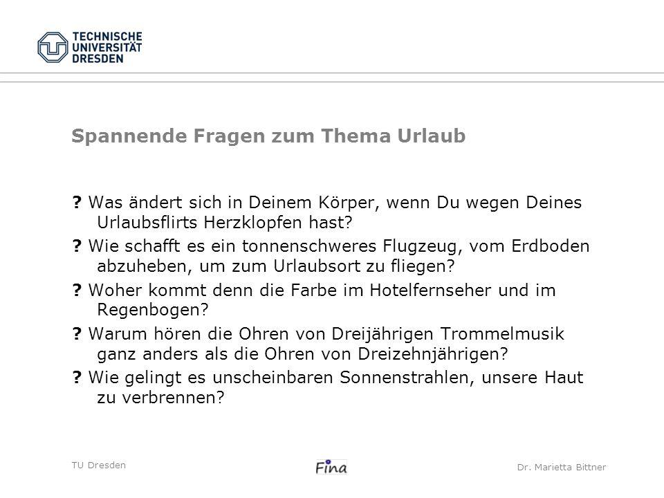 TU DresdenCarolin Frank Schwerpunkte der Maßnahmen kulturell det.