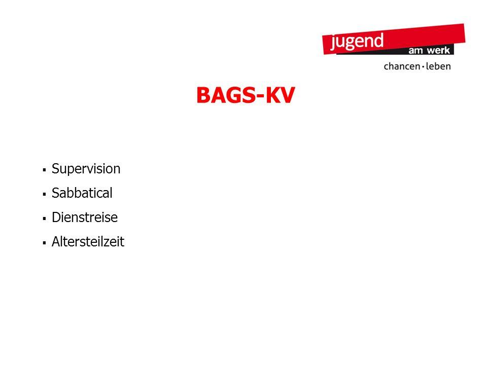 BAGS-KV Supervision Sabbatical Dienstreise Altersteilzeit