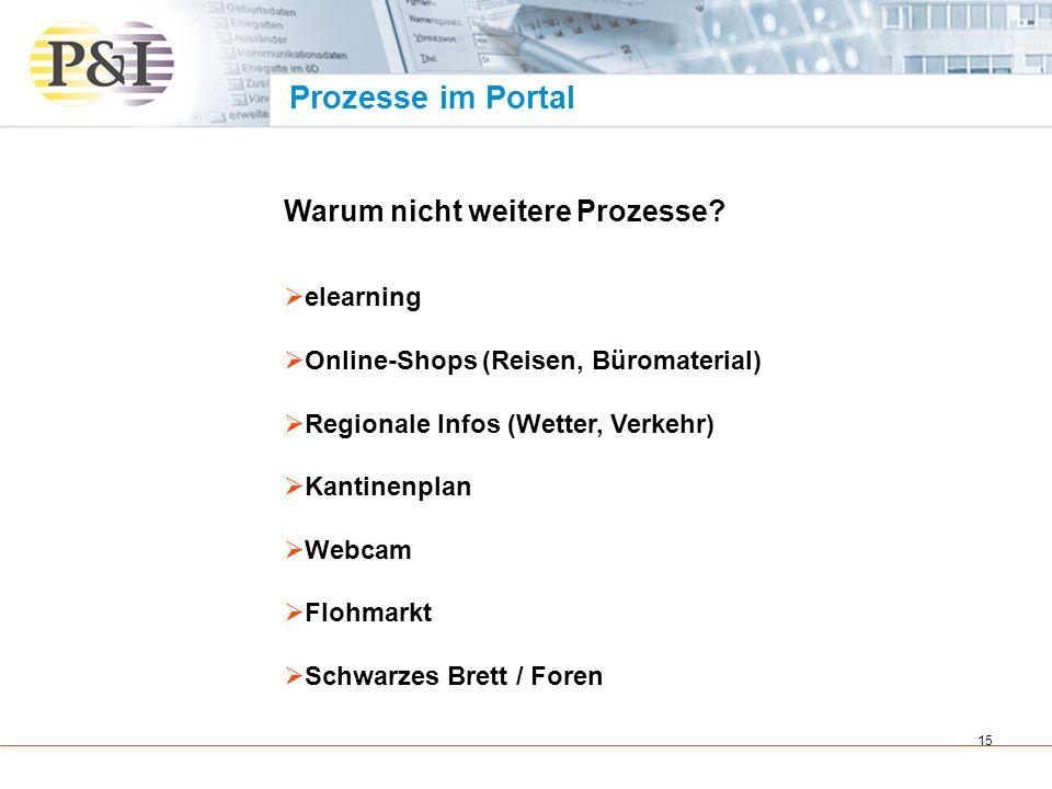 16 Prozesse im Portal Beispielprozess Optimierung der Personalprozesse LOGA ® kommt zu den Mitarbeitern und Managern ESS und MSS