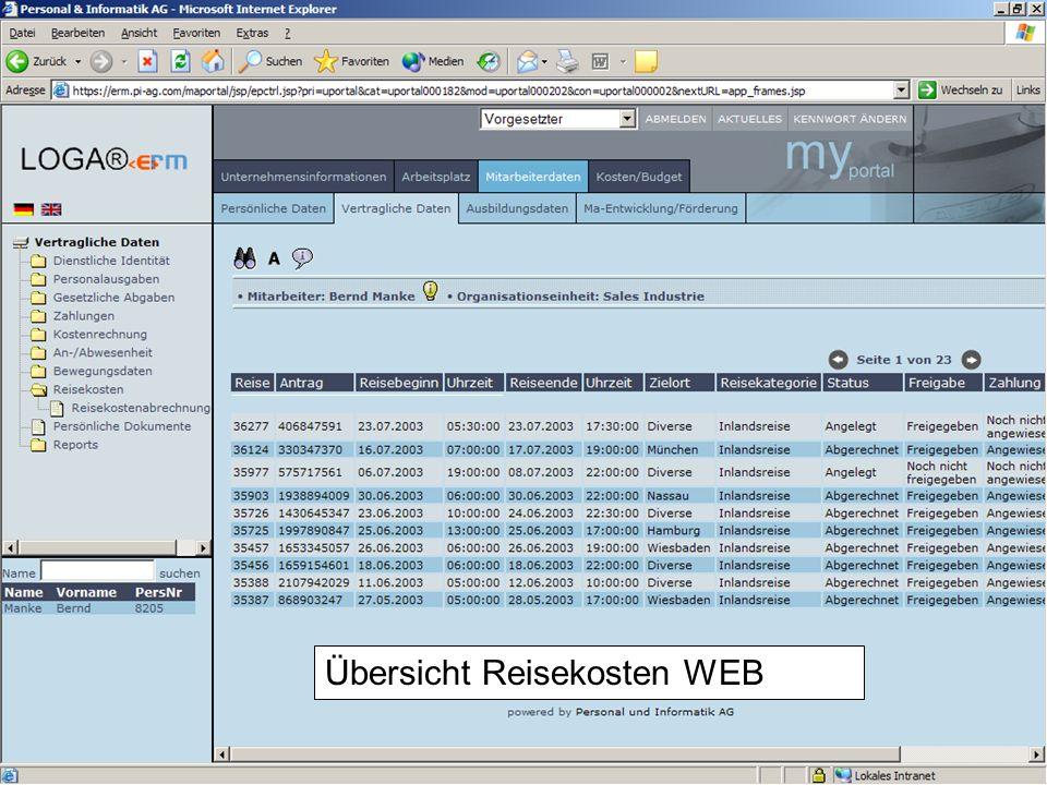 20 Download der Reisekostenabrechnung über WEB