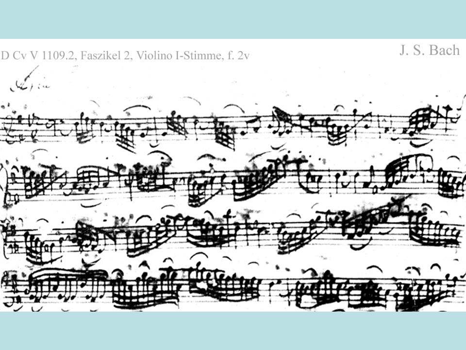 Informationen zu Bach: Zu Lebzeiten kaum Bedeutung als Komponist -> gefeierter Organist Wiederentdeckung durch Mendelssohn und Brahms Mozart und Beethoven studierten seine Werke Laut Sohn war er quasi Autodidakt S.