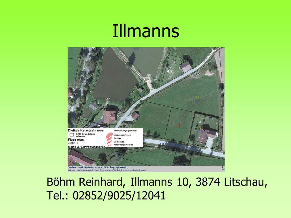 Illmanns Böhm Reinhard, Illmanns 10, 3874 Litschau, Tel.: 02852/9025/12041