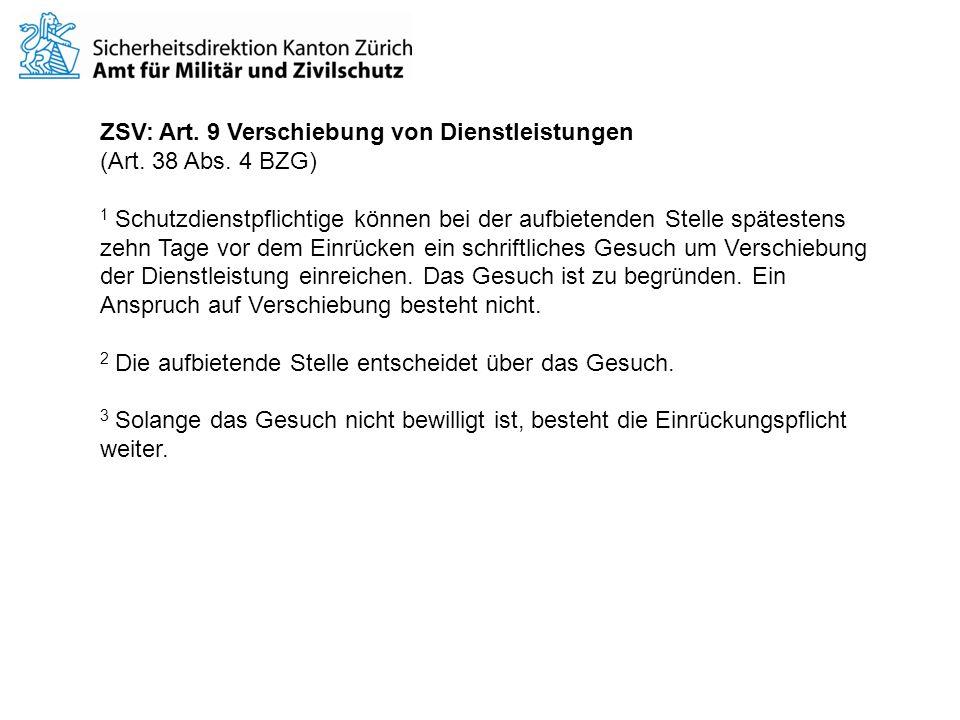ZSV: Art.9 Verschiebung von Dienstleistungen (Art.