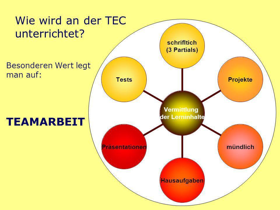 Wie wird an der TEC unterrichtet.