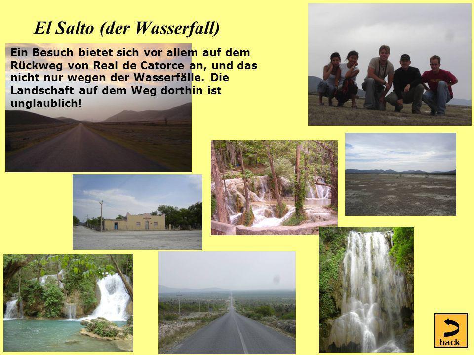 El Salto (der Wasserfall) Ein Besuch bietet sich vor allem auf dem Rückweg von Real de Catorce an, und das nicht nur wegen der Wasserfälle.