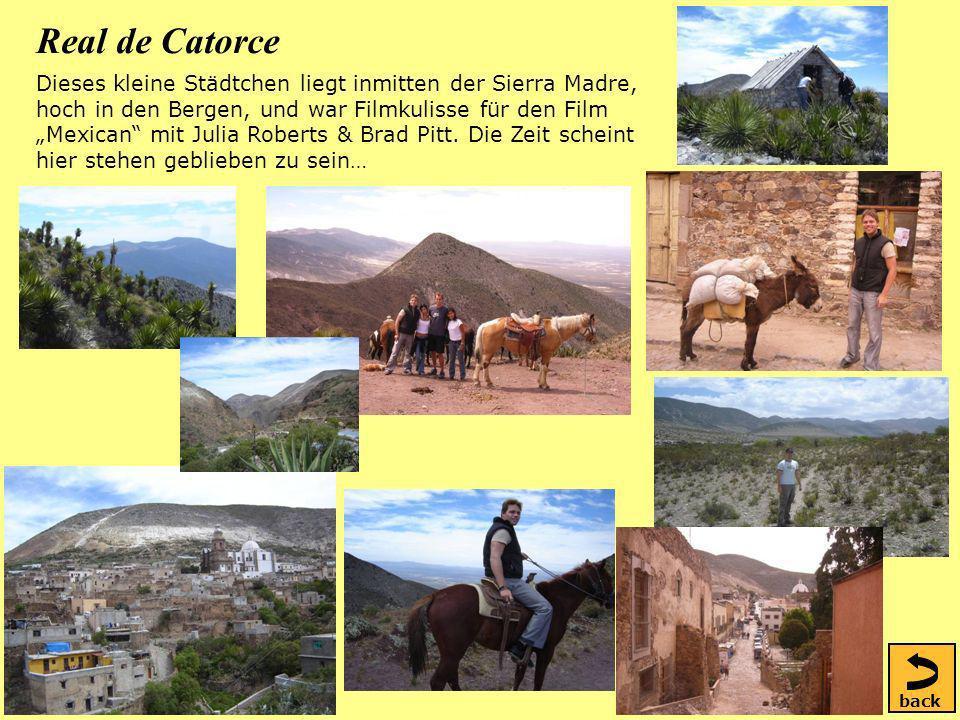 Real de Catorce Dieses kleine Städtchen liegt inmitten der Sierra Madre, hoch in den Bergen, und war Filmkulisse für den Film Mexican mit Julia Roberts & Brad Pitt.