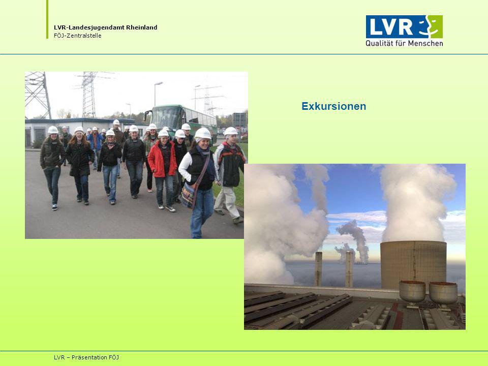LVR-Landesjugendamt Rheinland FÖJ-Zentralstelle LVR – Präsentation FÖJ Exkursionen